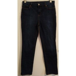 Chico's Sz 1 So Lifting Slim Leg Dark Wash Jeans